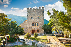 在布特林特,阿尔巴尼亚的古老洗礼池 免版税库存照片