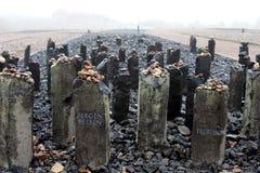 在布痕瓦尔德站点,德国的纪念石头 免版税库存图片