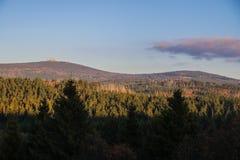 在布罗肯峰,哈茨山的布罗肯峰风景 免版税库存图片
