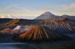 在布罗莫火山的早晨 库存图片