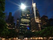 在布耐恩特公园的城市scape在曼哈顿, 库存图片