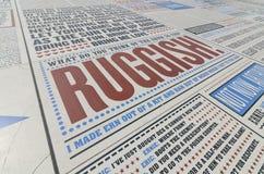 在布莱克浦lancashire,英国的喜剧地毯 免版税库存图片
