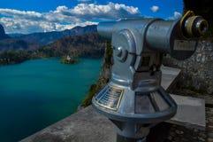 在布莱德湖,卢布尔雅那,斯洛文尼亚的美丽的景色 库存图片