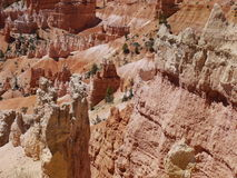 在布赖斯峡谷,犹他,美国的岩层 免版税库存照片