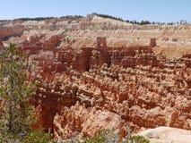 在布赖斯峡谷,犹他,美国的岩层 图库摄影