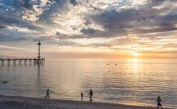 在布赖顿海滩阿德莱德的Activites 免版税库存图片