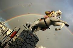 在布赖顿码头,苏克塞斯英国的彩虹 库存照片