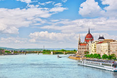 在布达佩斯的全景视图 库存图片