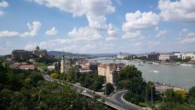 在布达佩斯的看法 库存照片