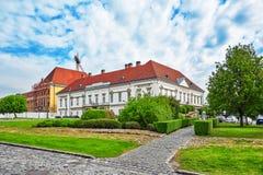 在布达佩斯皇家城堡附近的山多尔宫殿布达佩斯在天时间 库存图片