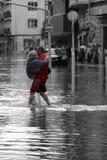 洪水在布达佩斯 免版税图库摄影