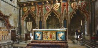 在布里斯托尔大教堂的法坛 免版税库存图片