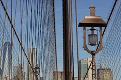 在布鲁克林大桥的建筑细节 库存照片
