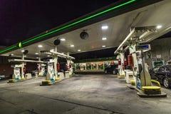 在布鲁克林,纽约打开加油站 库存照片