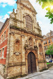 在布鲁塞尔、比利时和欧盟` s capit的老Churchl 免版税库存图片