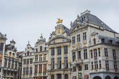 在布鲁塞尔大广场的市政厅在布鲁塞尔,比利时。 库存图片