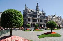 在布鲁塞尔大广场的花展在布鲁塞尔 免版税图库摄影