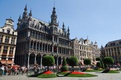 在布鲁塞尔大广场的花展在布鲁塞尔 库存图片