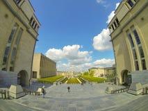在布鲁塞尔的看法从mont des艺术的顶端 免版税库存图片