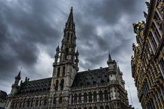 在布鲁塞尔的黑暗的云彩 图库摄影