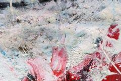 在帆布的抽象油漆纹理设计的 库存图片