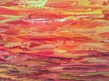 在帆布的明亮的油漆 库存照片
