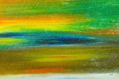 在帆布的水彩油漆 库存图片