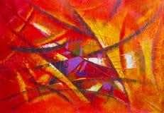 在帆布的绘的抽象派原始的油和丙烯酸酯颜色 向量例证