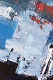 在帆布的蓝色明亮的颜色 ?? r 在帆布的油画 颜色纹理 o 皇族释放例证