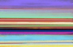 在帆布纹理的抽象五颜六色的油画 背景的抽象当代艺术 库存图片