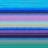在帆布纹理的抽象五颜六色的油画 免版税库存照片
