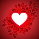 在帆布纹理的白色心脏 库存照片