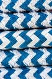 在帆船的五颜六色的绳索 免版税图库摄影