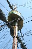 在帆船的帆柱 图库摄影