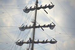 在帆船的配合 库存照片