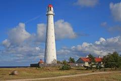 在希乌马岛海岛上的灯塔 库存图片