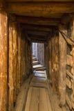 在希望里面隧道在萨拉热窝,隧道博物馆,隧道的第一个零件 库存照片