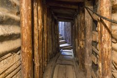 在希望里面隧道在萨拉热窝 免版税库存照片