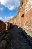 在希腊剧院的老废墟taormina的西西里岛 库存图片