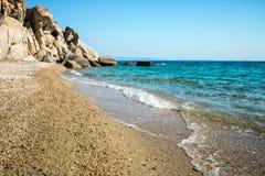 在希腊半岛Sithonia的Fava海滩 库存图片