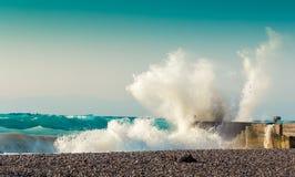 飞溅波浪 库存图片
