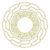 在希腊样式的圆的板材 免版税图库摄影