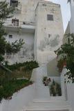 在希腊海岛上的大厦 库存图片