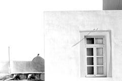 在希腊海岛窗口里 图库摄影