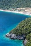 在希腊海岛Kefalonia上的Antisamos海滩 库存照片