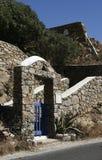 在希腊的海岛上的建筑学 图库摄影