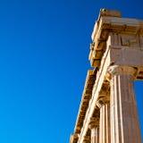 在希腊老建筑学和历史地方帕台农神庙在 免版税库存图片