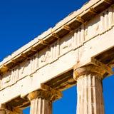 在希腊老建筑学和历史地方帕台农神庙在 图库摄影