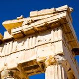 在希腊老建筑学和历史地方帕台农神庙在 库存图片