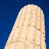 在希腊老建筑学和历史地方帕台农神庙在 免版税图库摄影